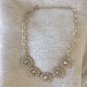 J. Crew silver statement necklace